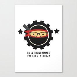 Programmer - Ninja Programmer Canvas Print