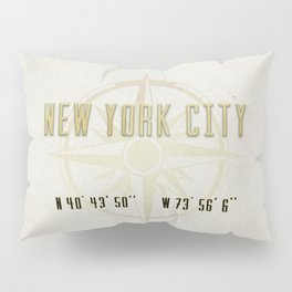 New York City Vintage Location Design Pillow Sham