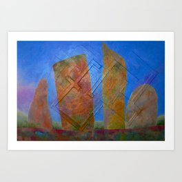 There Were Houses Art Print