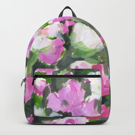 abstract flower painting Backpack
