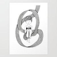 knit Art Prints featuring knit by Sara Edström