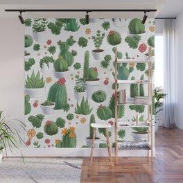 Succulent Cacti Wall Mural