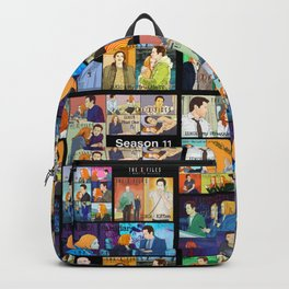 Patchwork of episodes with Mulder and Scully Backpack