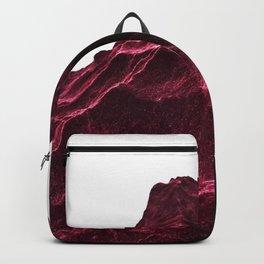 Epic DARKRED Rocks Mountain Design Backpack