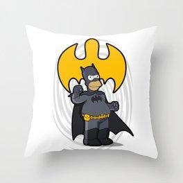 bat-homer: the Simpsons superheroes Throw Pillow