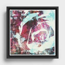 rose, digital graffiti Framed Canvas