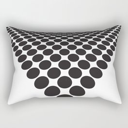 BLACK DOTS ON A WHITE BACKGROUND Abstract Art Rectangular Pillow