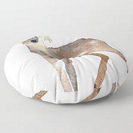 Boho Chic Deer With Flower Crown Floor Pillow