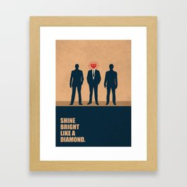 Lab No. 4 - Shine Bright Like A Diamond Corporate Startup Quotes Framed Art Print
