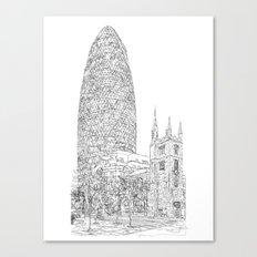 The Gherkin Canvas Print