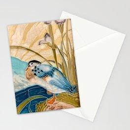 Retro Vintage Tiles Mandarin Duck Bird #2 Stationery Cards