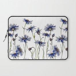 Blue Cornflowers, Illustration Laptop Sleeve