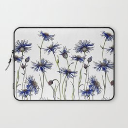 Blue Cornflowers, Illustration Laptop Sleeve