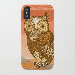 Owlie in Autumn iPhone Case