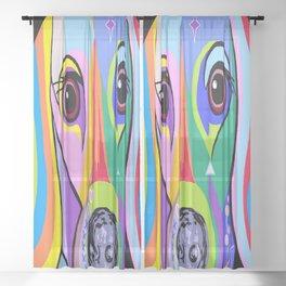 Dachshund 2 Sheer Curtain
