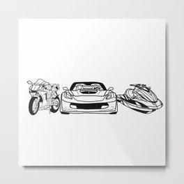 Motor Sport Metal Print
