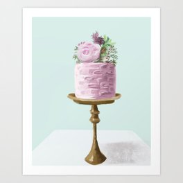 Flower Cake Art Print