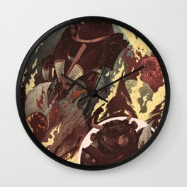 Ye Olde Smokey Wall Clock