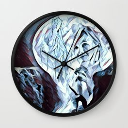 The Healing Moon Wall Clock