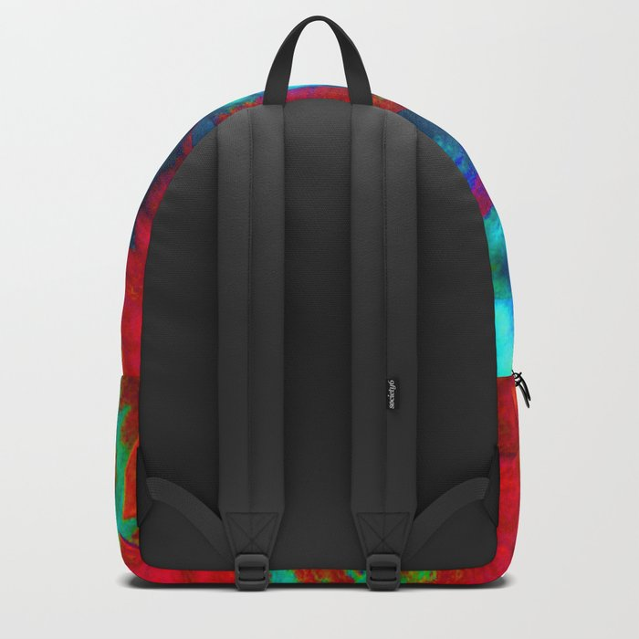 Groovy Tie Dyed Square Backpack
