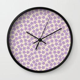 Lavender Flowers on Cream Wall Clock