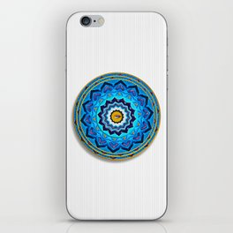 Blue Rose Mandala iPhone Skin