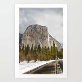 El Capitan in Winter Art Print