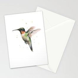 Hummingbird Watercolor Stationery Cards