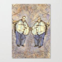 Tweedledum & Tweedledee Canvas Print