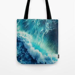Waving Blue Tote Bag