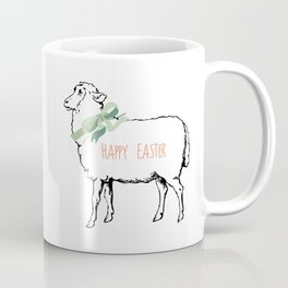 Easter Art, Easter Quote, Lamb and Bunny Coffee Mug