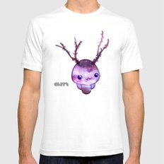 Nebula White SMALL Mens Fitted Tee
