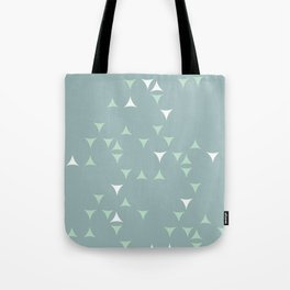 Minty_ Blue_Triangles Tote Bag