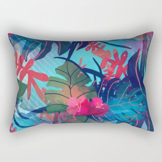 Tropical Blues Rectangular Pillow