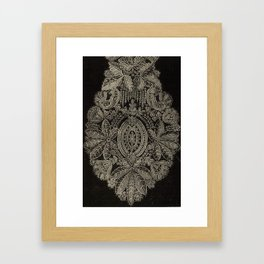 Vintage Lace Framed Art Print