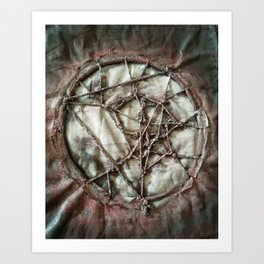 Woven Threads . Dream Catcher Art Print