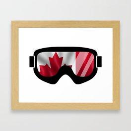 Canadian Goggles   Goggle Art Design   DopeyArt Framed Art Print