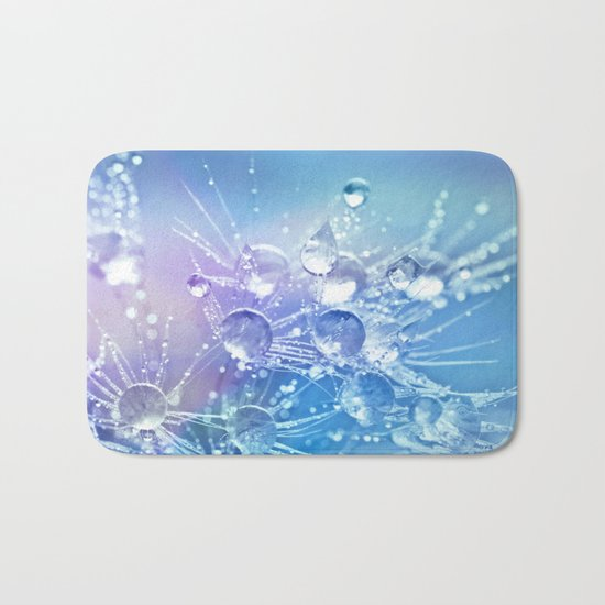 Diamond Dew Flowers (Periwinkle Lavender) Bath Mat