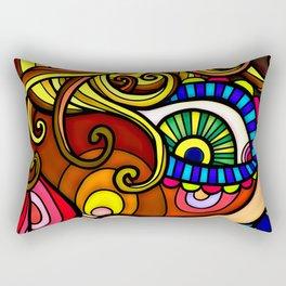 Abstract Doodle Face Rectangular Pillow