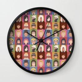 Naruto Shippuden Heroes Wall Clock