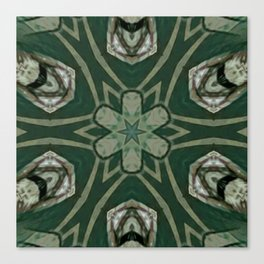 The Green Unsharp Mandala 4 Canvas Print