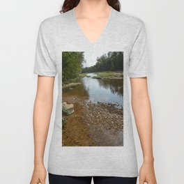 Camped at Briar Bluff on the Buffalo River, No. 4 Unisex V-Neck