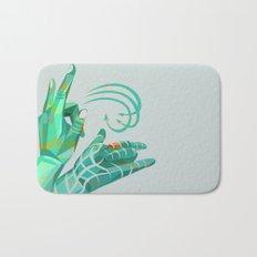 hand-shape aesthetic Bath Mat