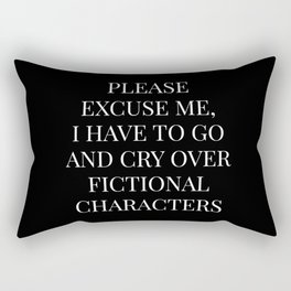 Crying Over Fictional Characters  Rectangular Pillow