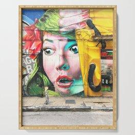 207. Athens Street Art, Greece Serving Tray