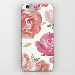 Peonies pink red flowers iPhone-galaxy case iPhone Skin