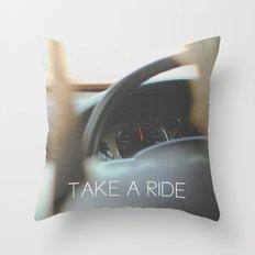 Take A Ride Throw Pillow