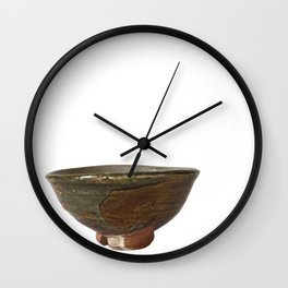 Photograph of Teabowl - Summer, Ceramic Art by Rostislav Eismont of Whipple Hill Art Collective Wall Clock