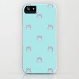 Cute Hamster Pattern Illustration iPhone Case
