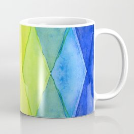 Geometric Abstract Rainbow Watercolor Pattern Coffee Mug